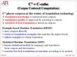 c 3 c cube corpus centered computation