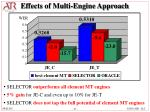effects of multi engine approach