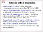 selection of best translation12