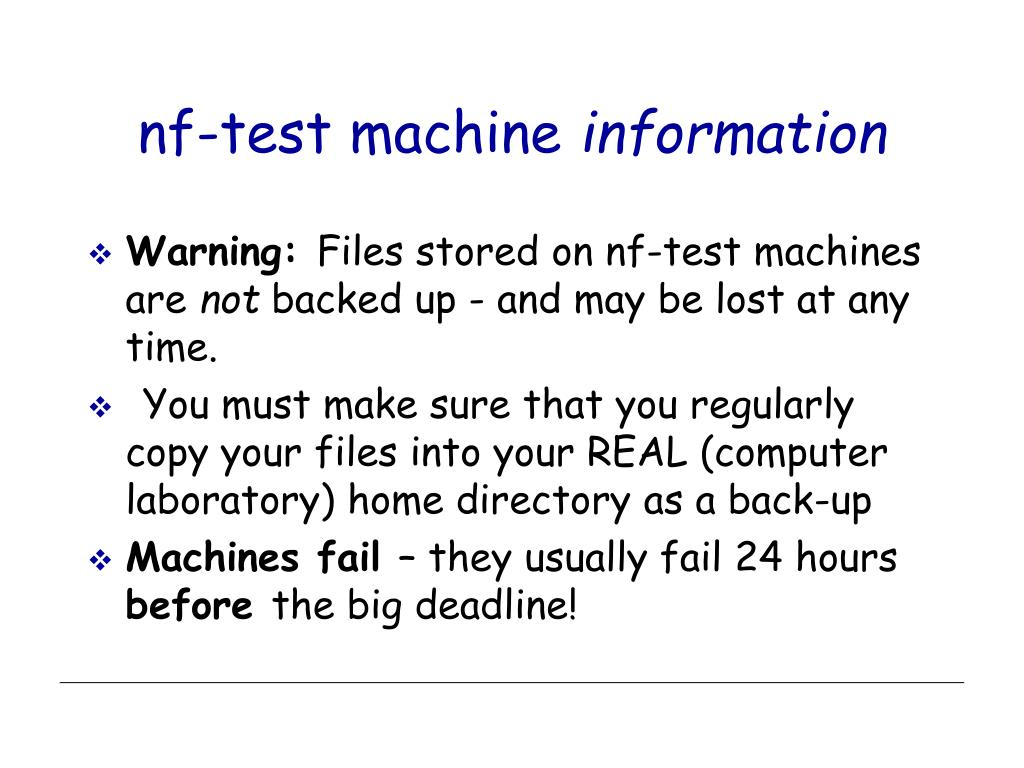 nf-test machine
