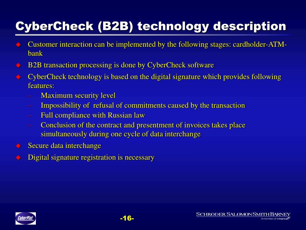 CyberCheck (B2B)