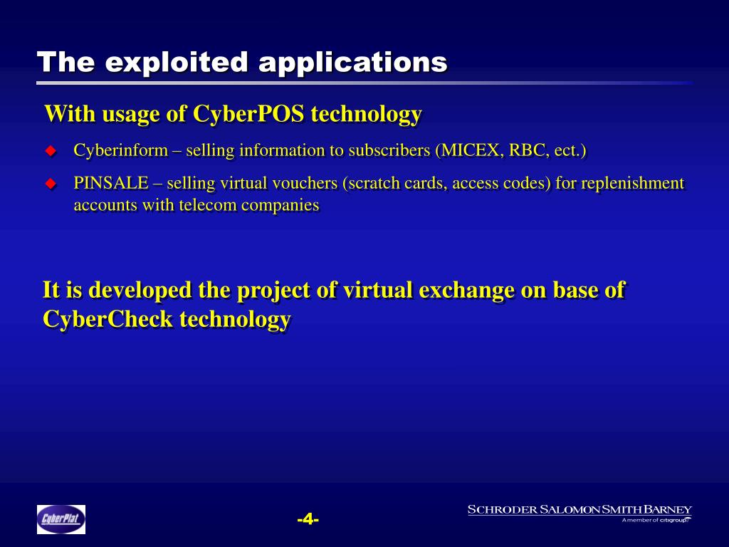 The exploited applications