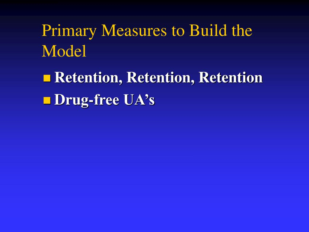 Primary Measures to Build the Model