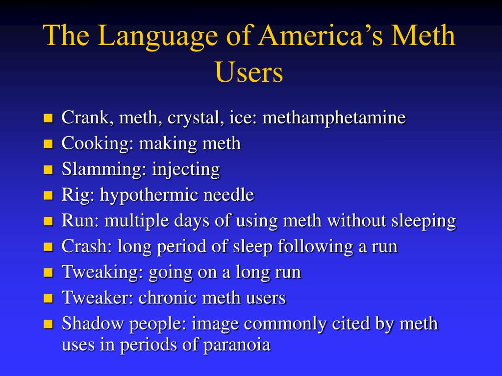 The Language of America's Meth Users