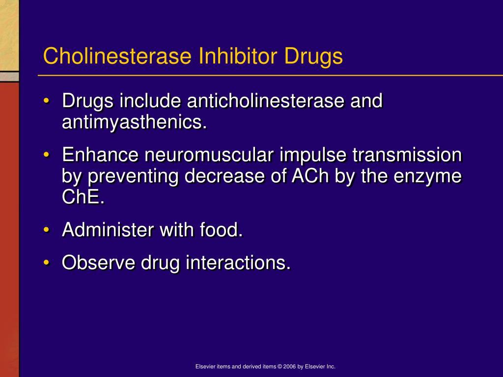 Cholinesterase Inhibitor Drugs