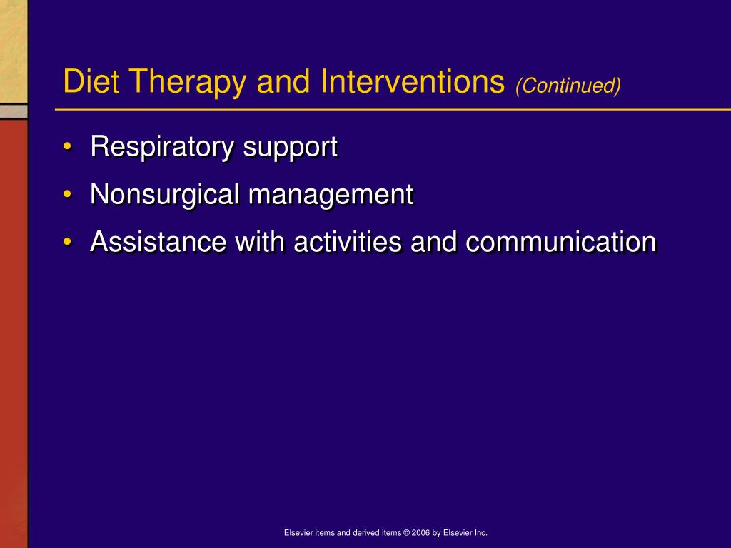 Diet Therapy and Interventions