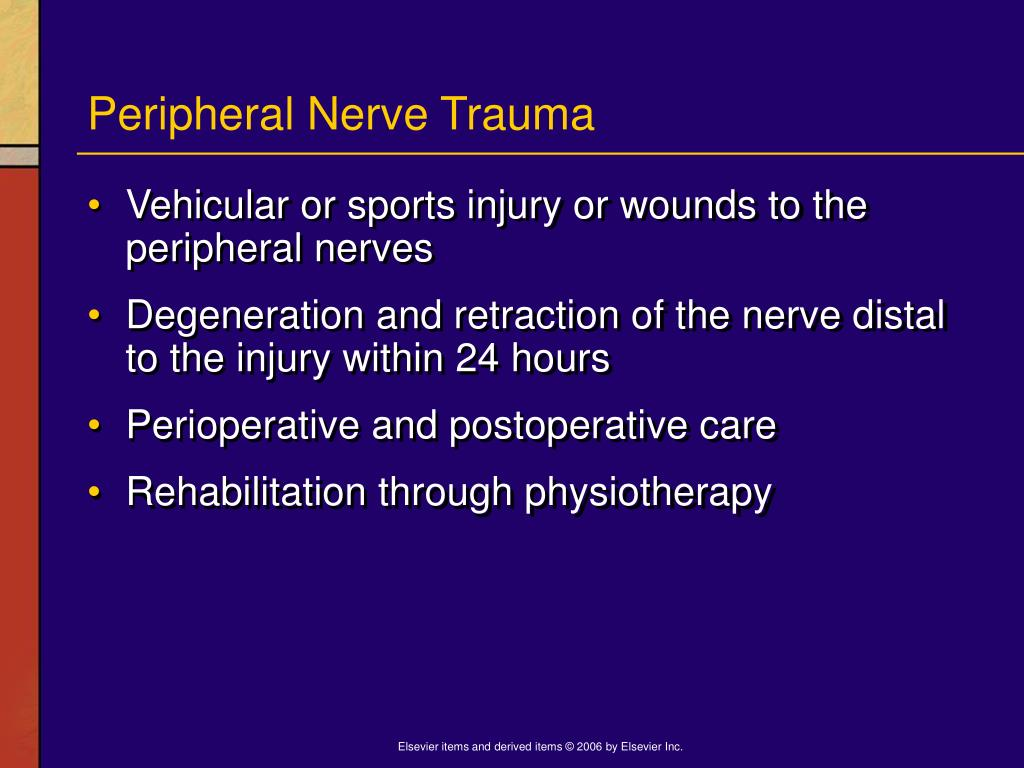 Peripheral Nerve Trauma