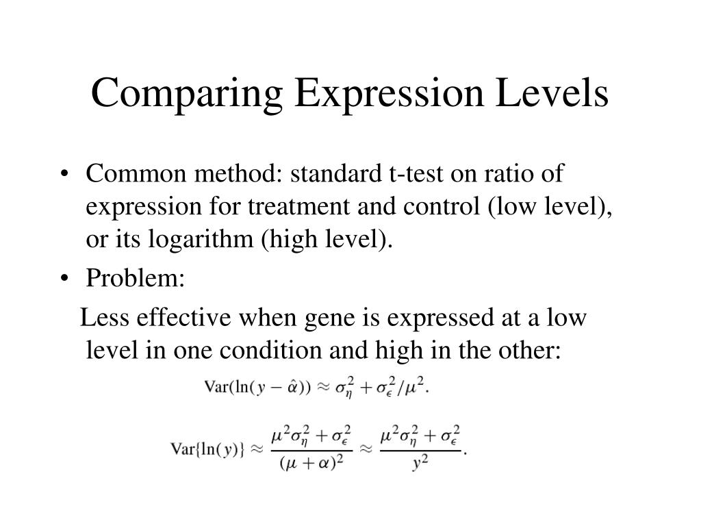 Comparing Expression Levels