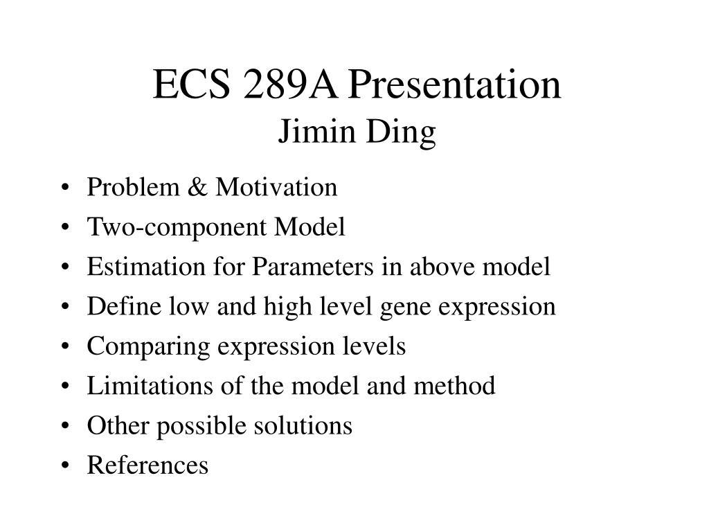ECS 289A Presentation