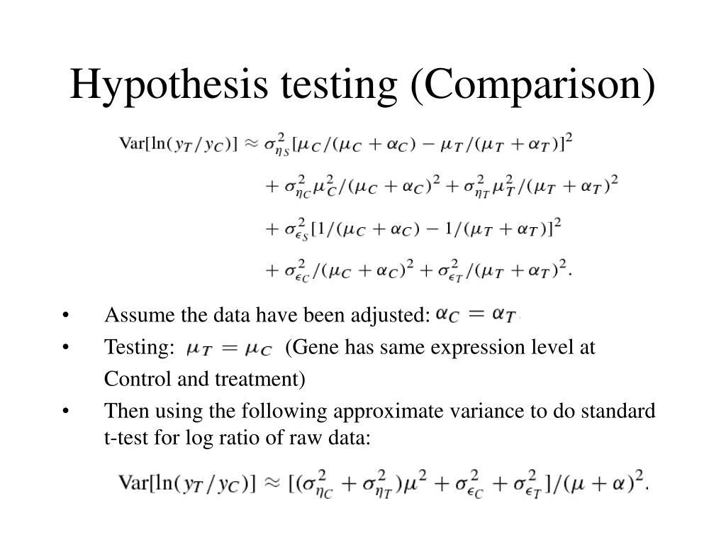 Hypothesis testing (Comparison)