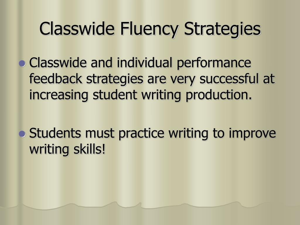 Classwide Fluency Strategies