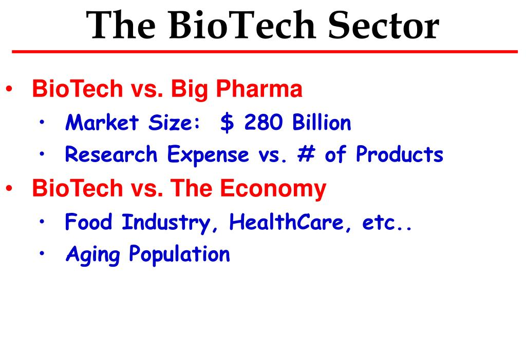 The BioTech Sector