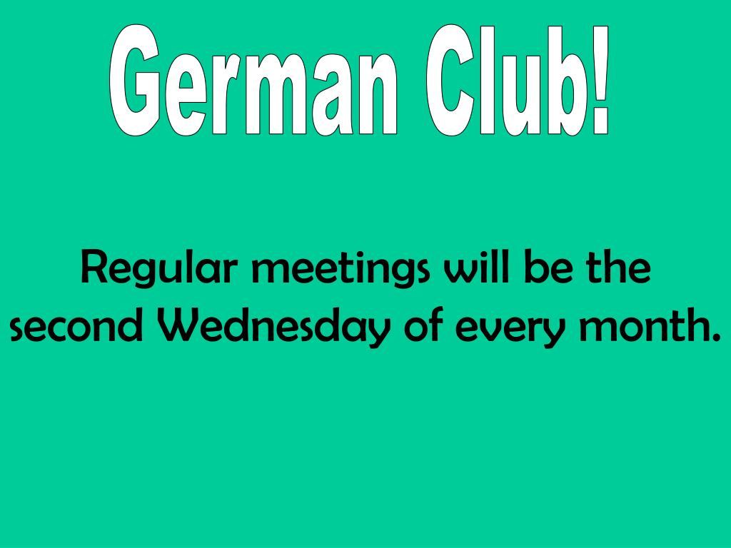 German Club!