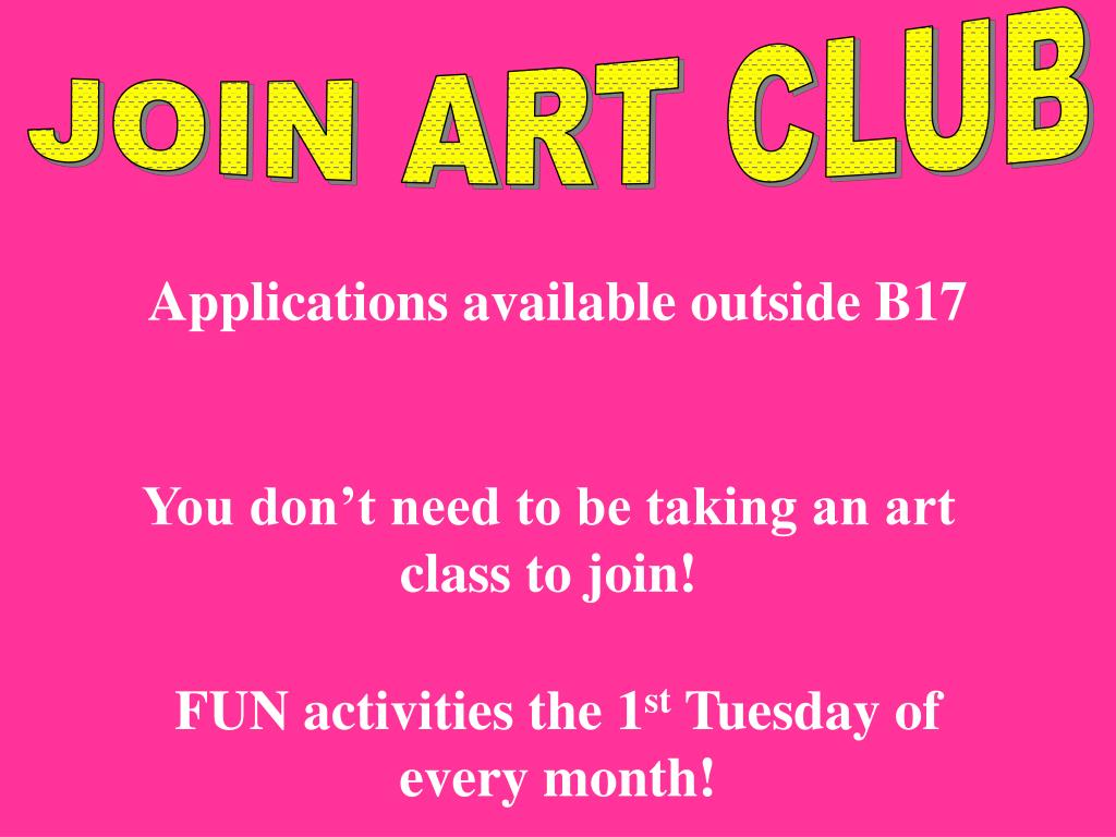 JOIN ART CLUB