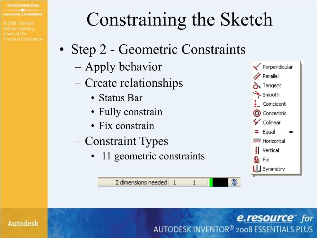Constraining the Sketch