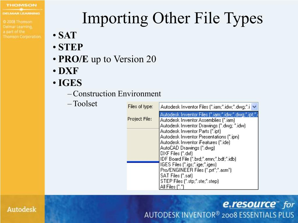 Importing Other File Types