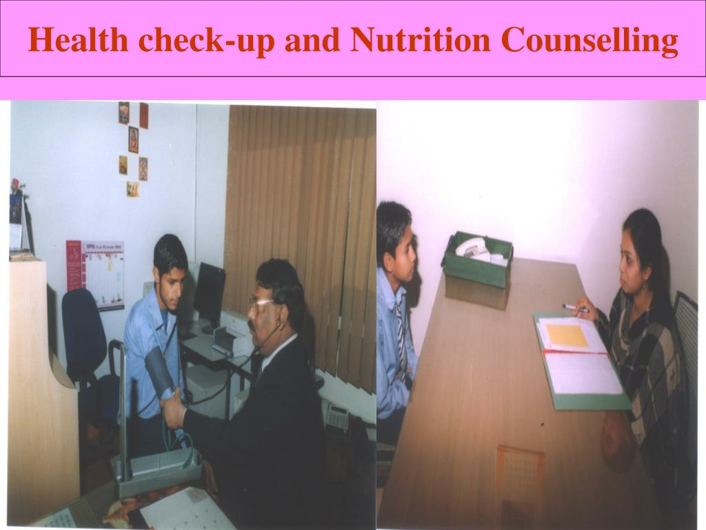 Health check-up and Nutrition Counselling