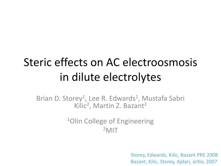 Steric effects on ac electroosmosis in dilute electrolytes