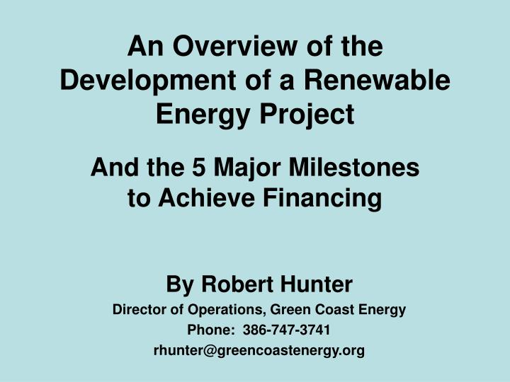 An overview of the development of a renewable energy project l.jpg