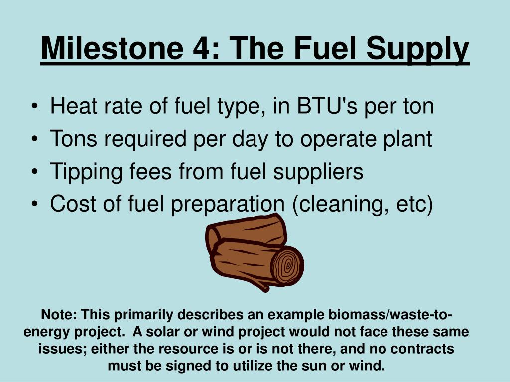 Milestone 4: The Fuel Supply