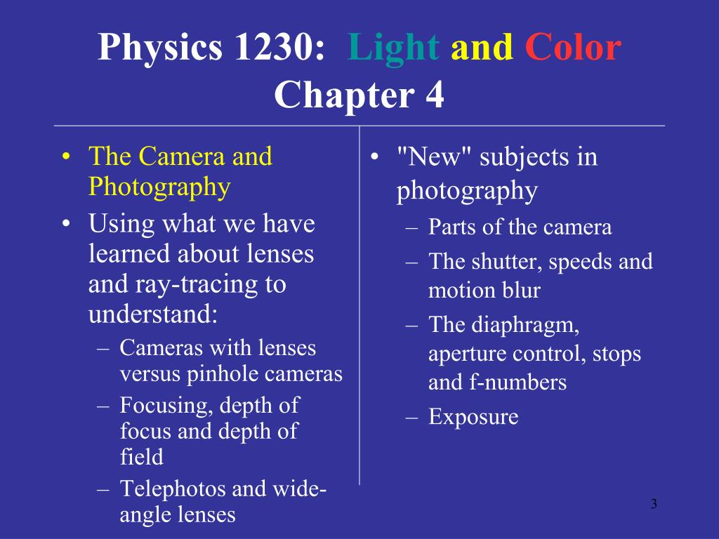 The Camera and Photography