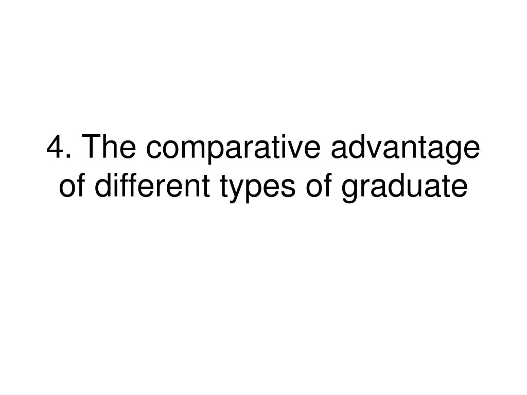 4. The comparative advantage of different types of graduate
