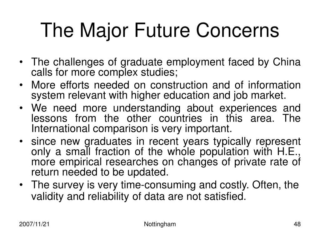 The Major Future Concerns