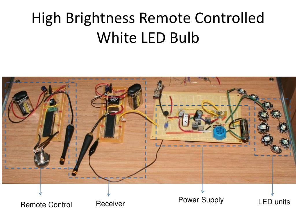 High Brightness Remote Controlled White LED Bulb
