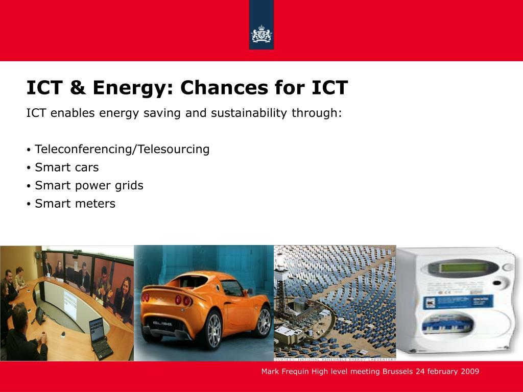 ICT & Energy: Chances for ICT