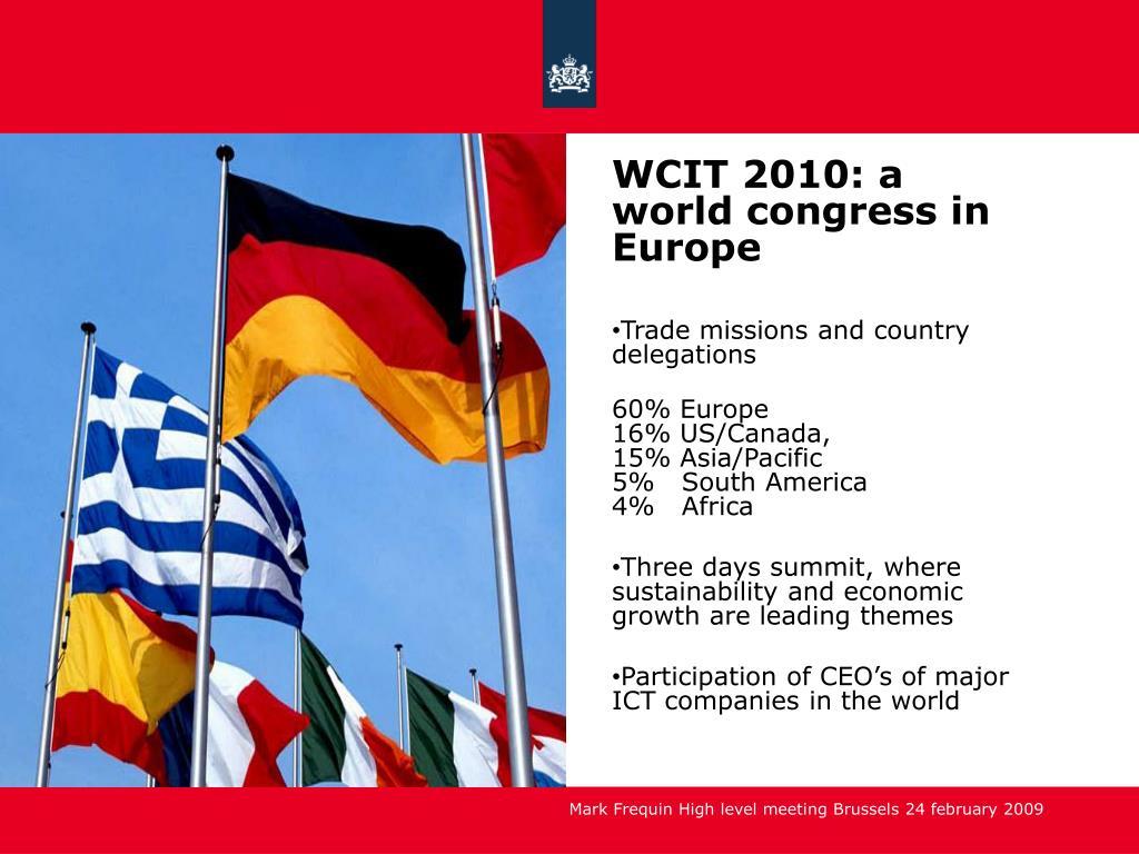 WCIT 2010: a world congress in Europe