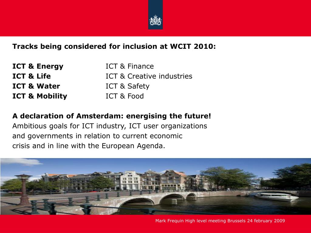 Tracks being considered for inclusion at WCIT 2010: