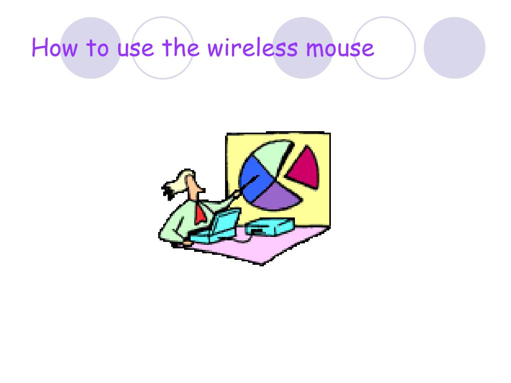 How to use the wireless mouse