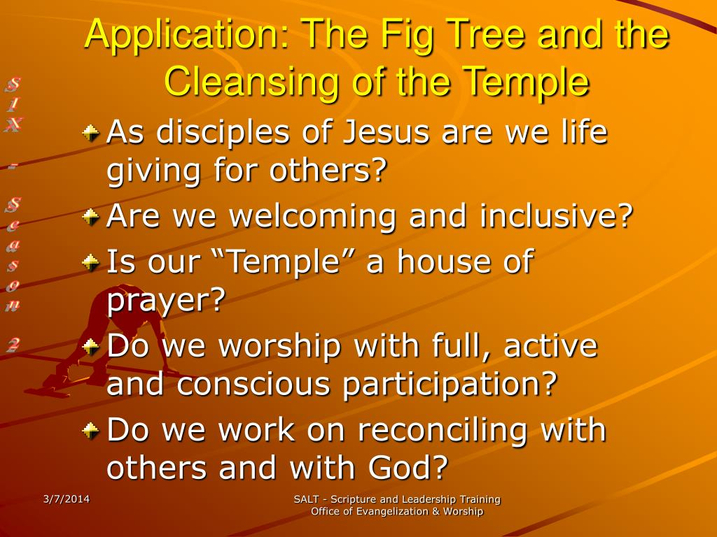 Application: The Fig Tree and the Cleansing of the Temple
