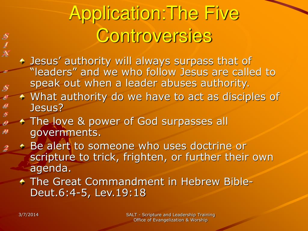 Application:The Five Controversies