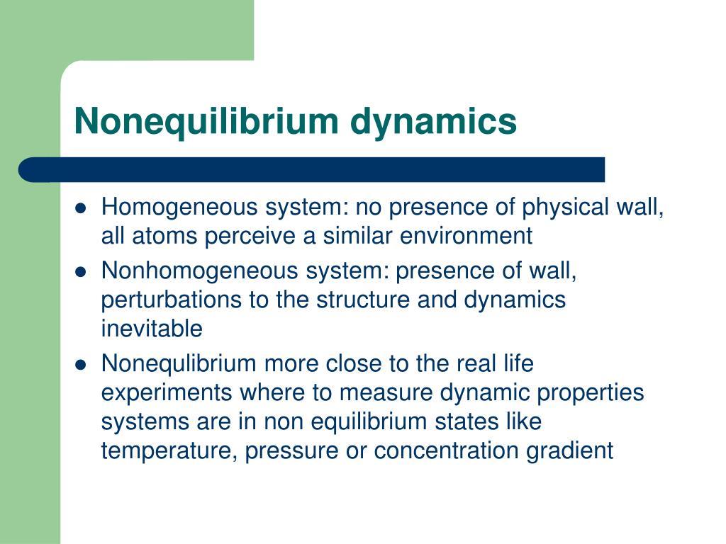 Nonequilibrium dynamics