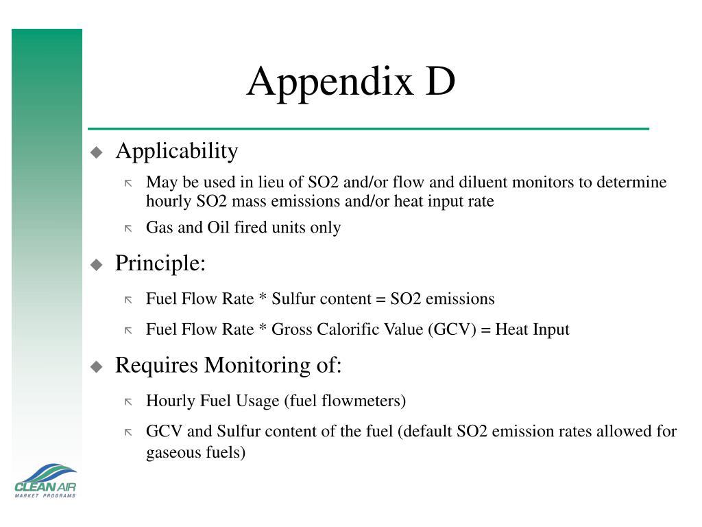 Appendix D