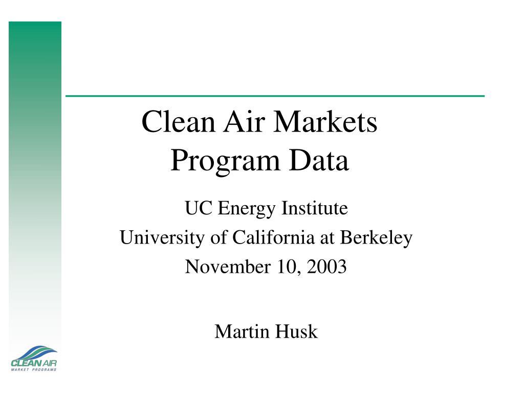 Clean Air Markets