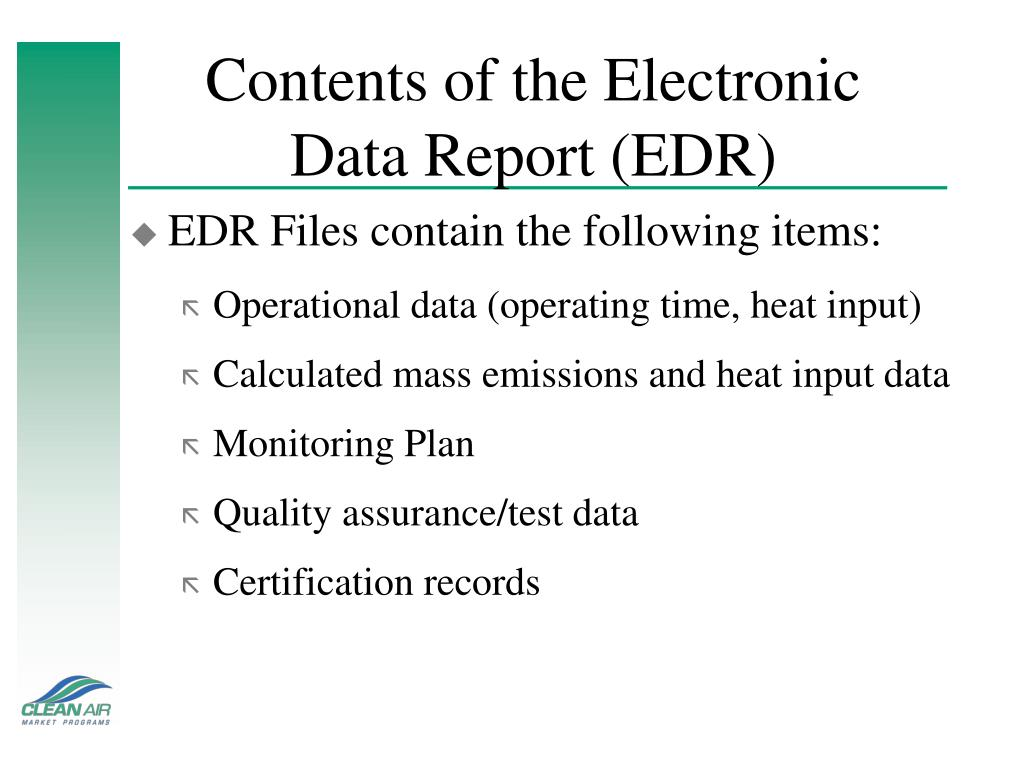 Contents of the Electronic