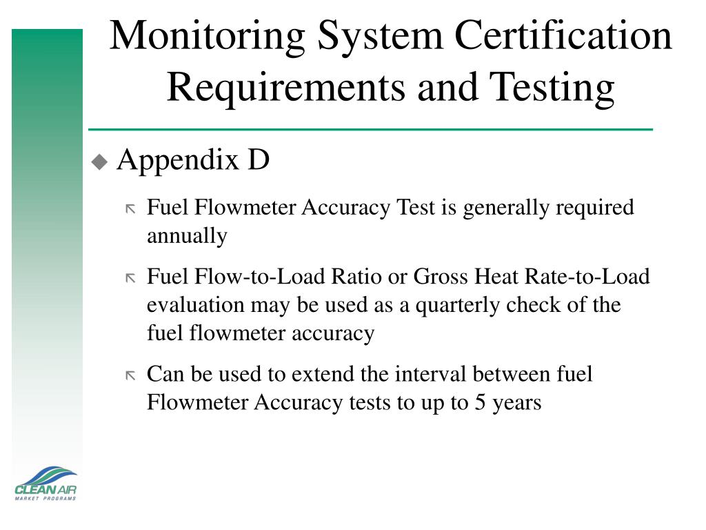 Monitoring System Certification