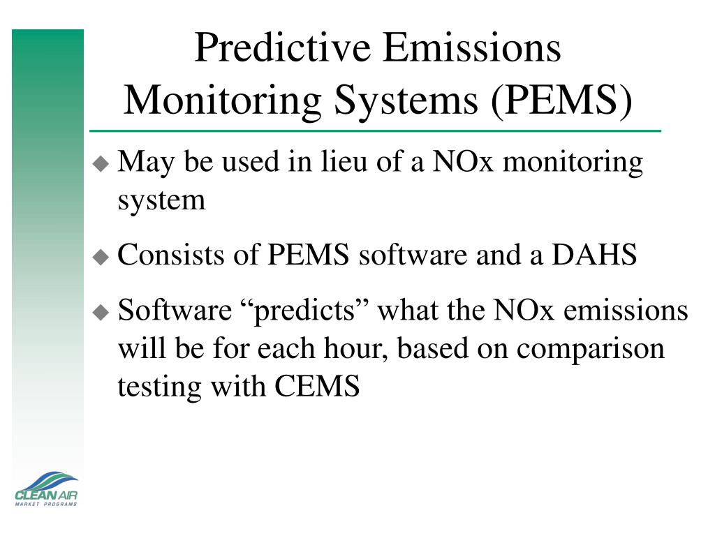 Predictive Emissions