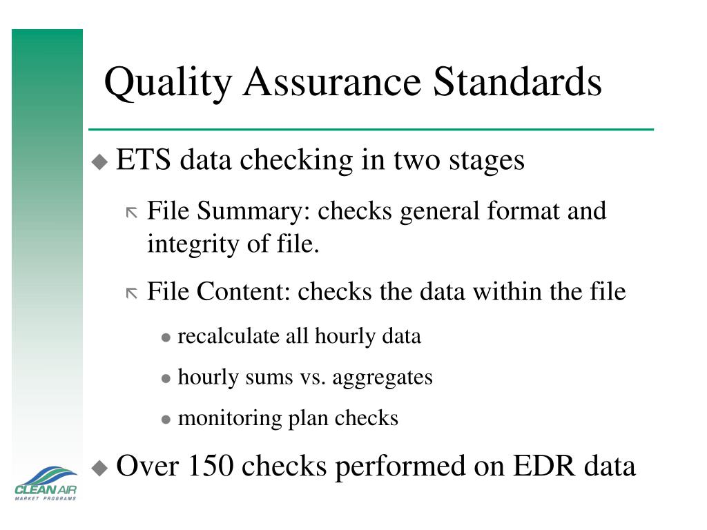 Quality Assurance Standards