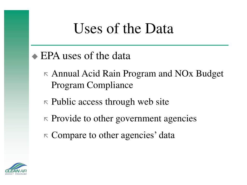 Uses of the Data