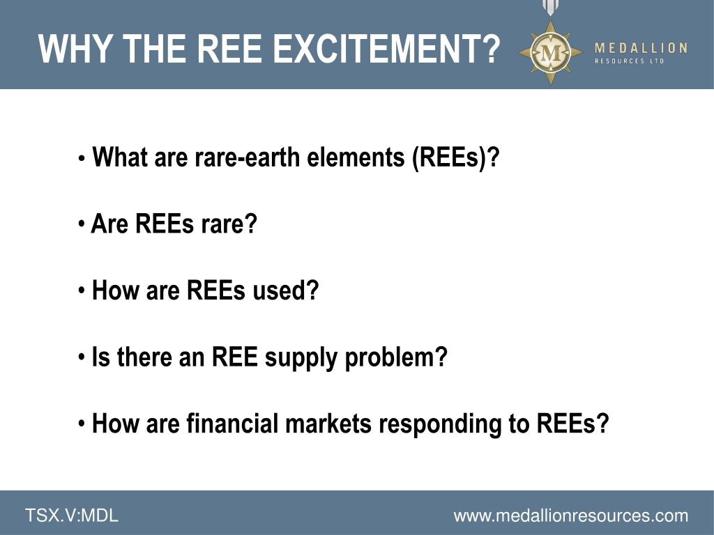 WHY THE REE EXCITEMENT?