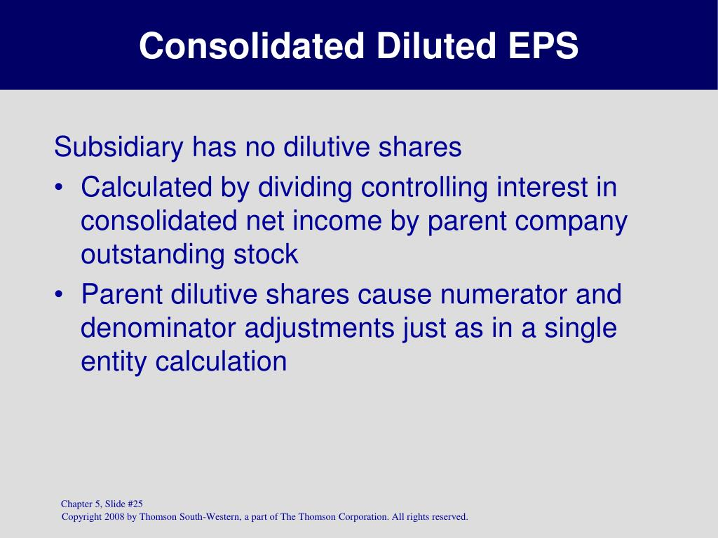 Consolidated Diluted EPS