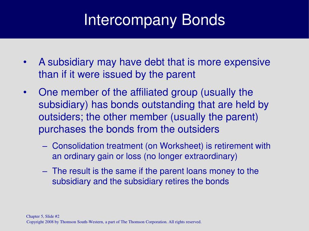 Intercompany Bonds