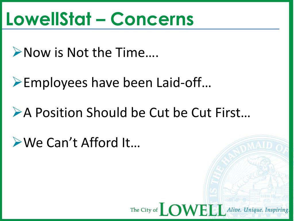 LowellStat – Concerns