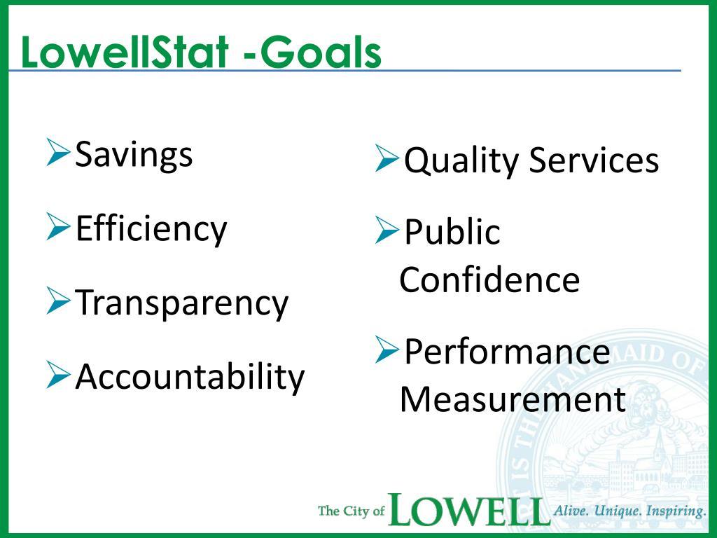 LowellStat -Goals