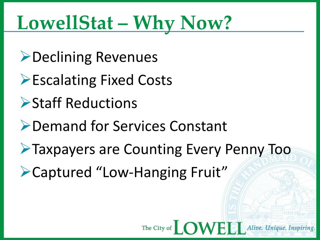 LowellStat – Why Now?