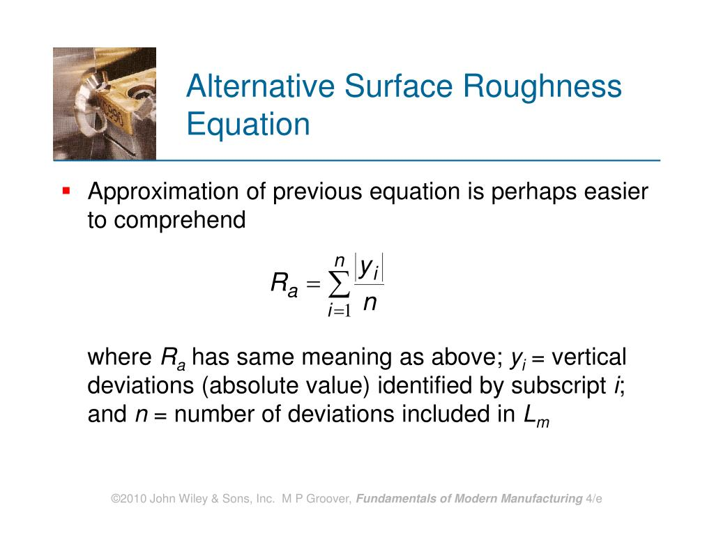 Alternative Surface Roughness Equation