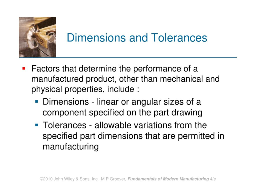 Dimensions and Tolerances